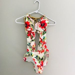 Never Worn Guess Tropical Cutout Bathing Suit